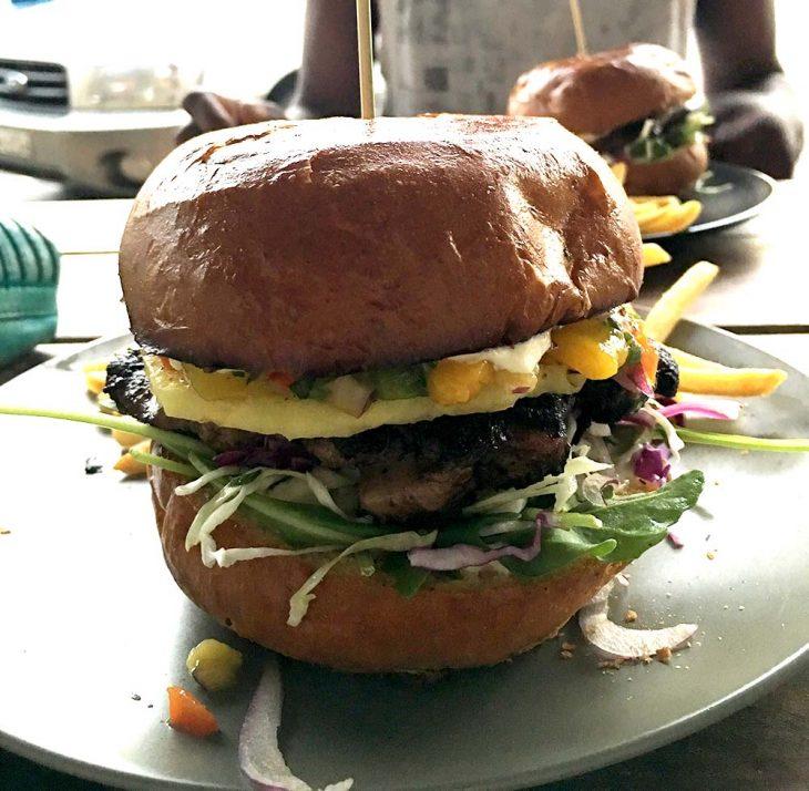 Jamaica Jerk Chicken Burger Jah Blue Jamaican Jerk Sauce Byron Bay Australia